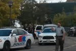 Belleville police respond to an incident on campus on October 7th, 2014. Photo by Kate Shumakova.