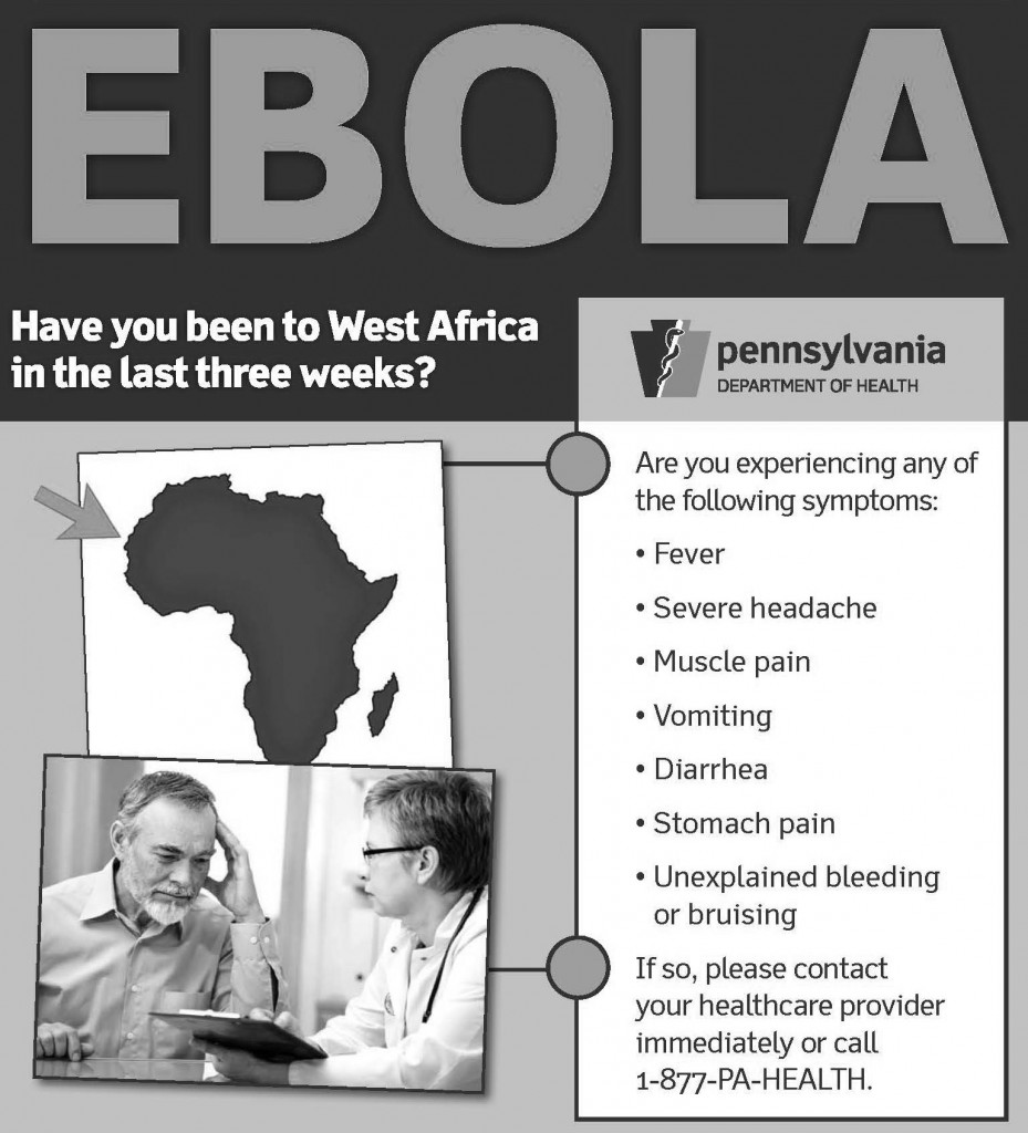 Look for the symptoms of Ebola.