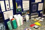 A display is set up outside the Shark Tank Pub at Loyalist College with  a variety of resources for mental health and addictions. Photo by Katie Coleman