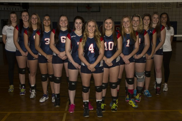 Lancer's women's volleyball co-coaches say there should be a female presence – head coach, assistant-coach, mentor – on all women's varsity sports teams.  Photo via Loyalist Lancer's website.