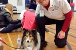 Joyce Fowler from St. John Ambulance says her dog Bandit had to be evaluated before he could interact with students