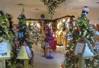 The Tweed Festival of Trees is one of two Christmas events happening in Central Hastings this weekend. Photo by Bay of Quinte Tourism.