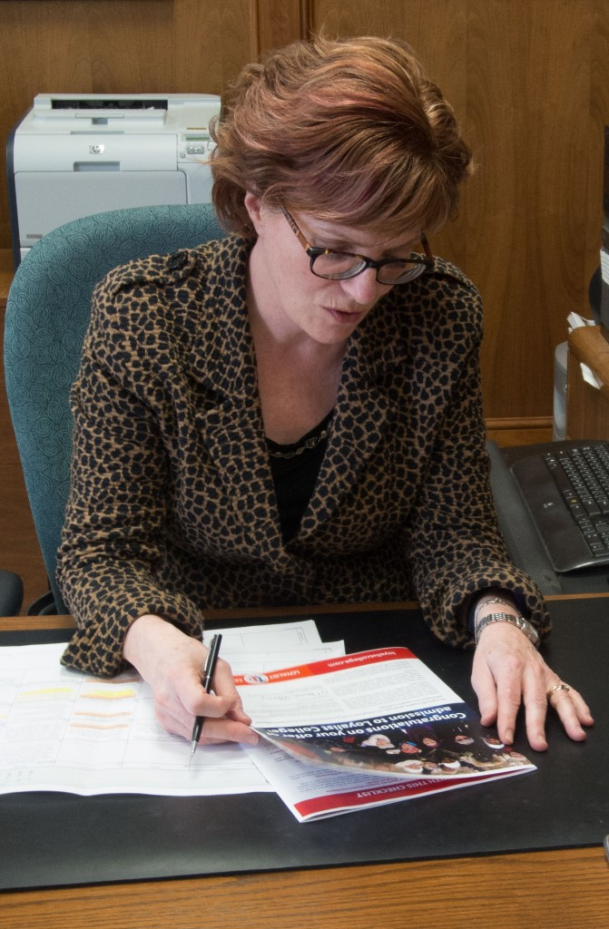 Loyalist College president Maureen Piercy has a lot of work of ahead as the college tries to find balance to its budget. Photo by Joseph Quigley.