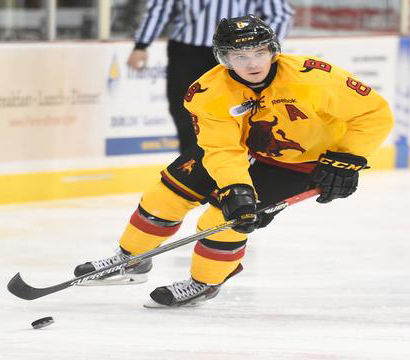 Brett Welychka was named Belleville's new captain on Monday. (Photo via the Belleville Bulls)