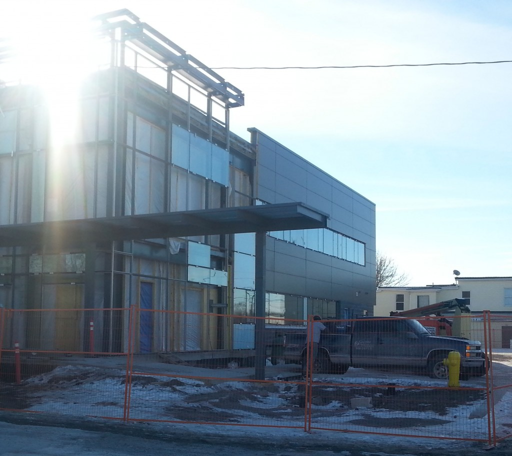 The new fire hall on Station street in Belleville is currently under construction. Photo by Taylor Broderick