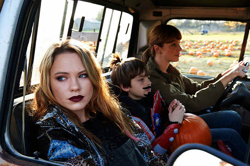 Chloe Rose (left), Peter DaCunha (middle), Rachel Wilson (right) from the Hellions movie.