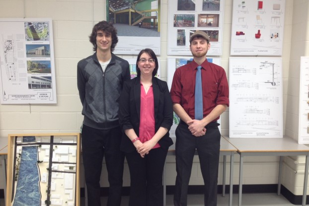 Architecture students at Loyalist College