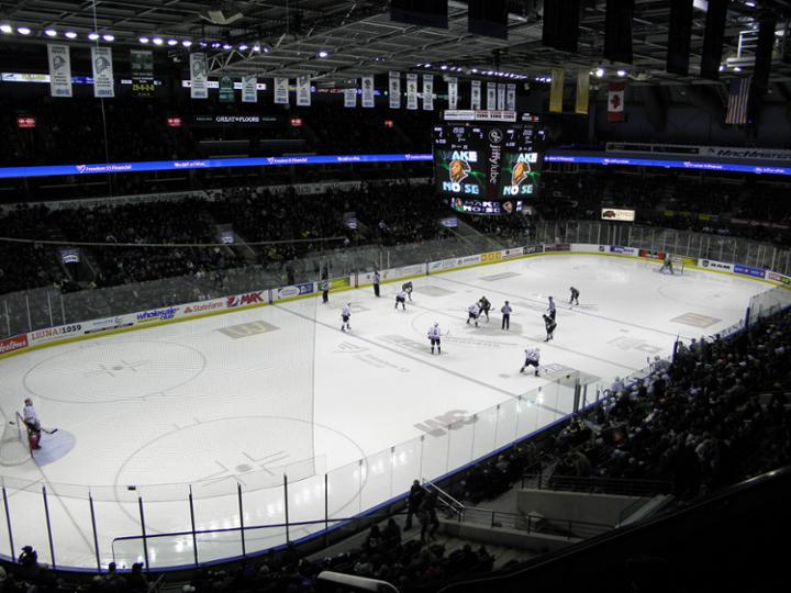 Budweiser Gardens in London has the highest average attendance for OHL games. Photo courtesy stadiumjourney.com