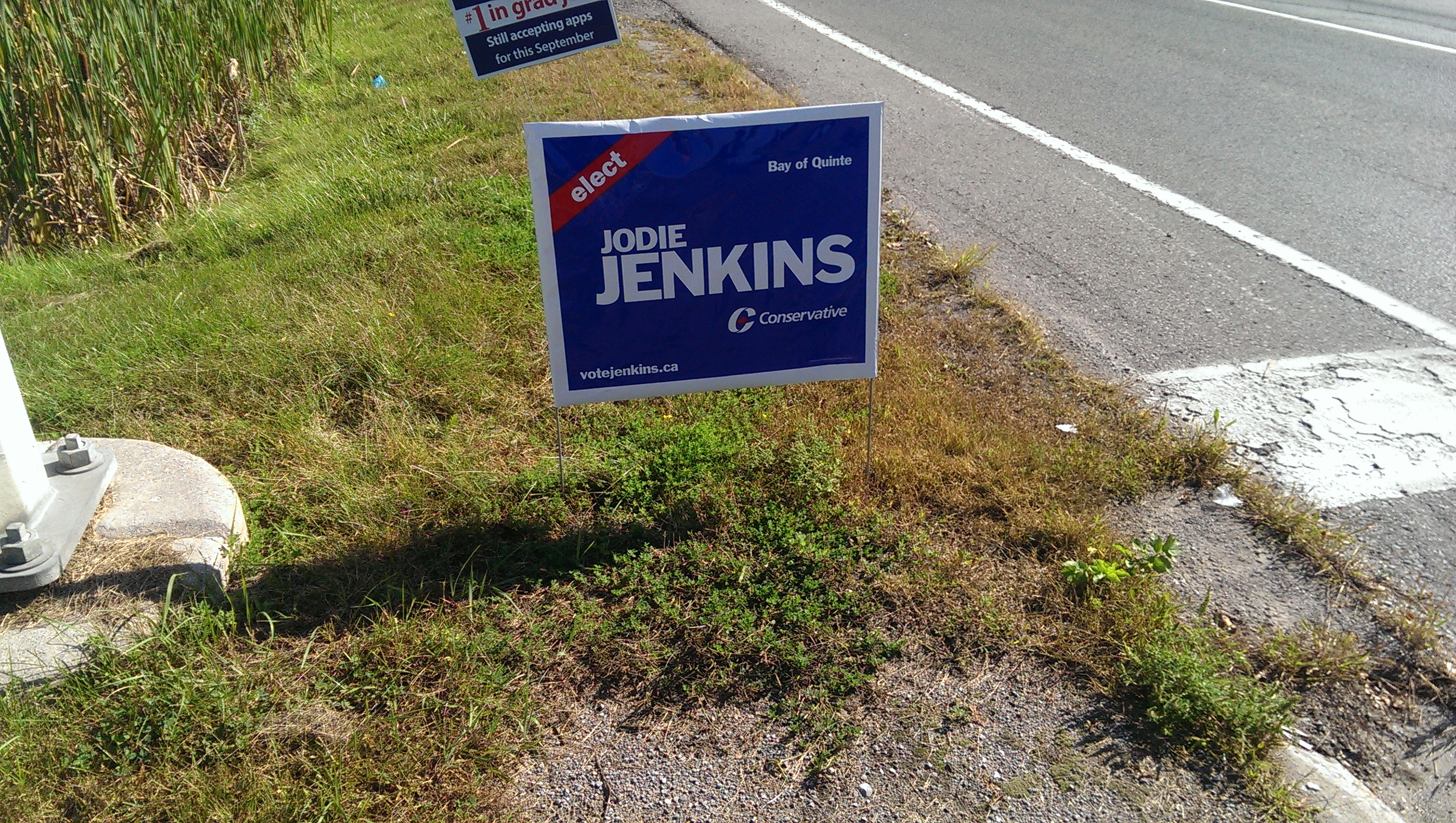 stealing election signs can have serious consequences ca jodie jenkins is proud to be running for mp of quinte west on oct 9