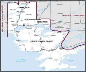 Here is the brand new riding for the Bay of Quinte