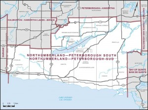 Riding Map for Northumberland-Peterborough South
