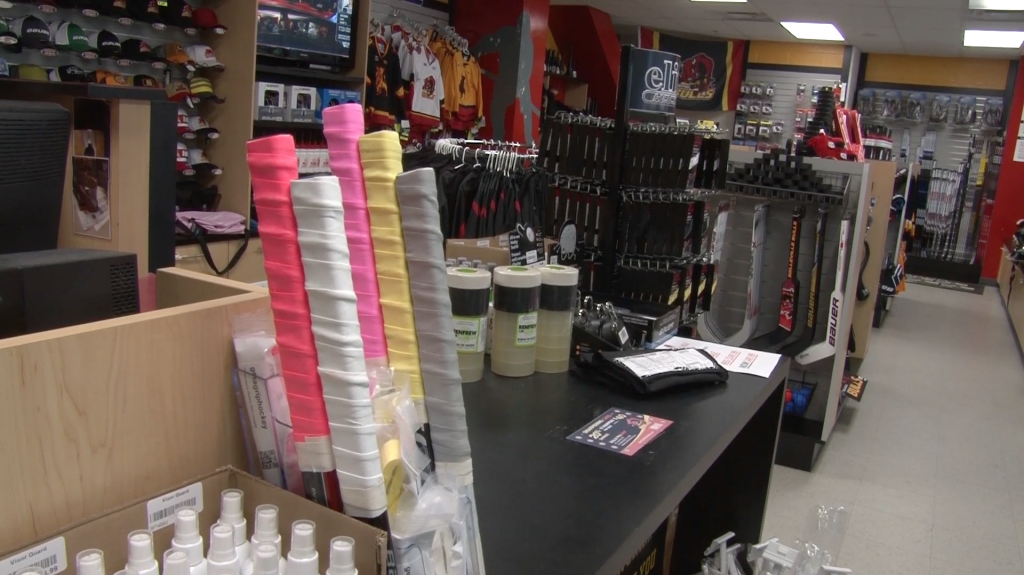 Get A Grip's products are being sold at the Belleville Bulls Pro Shop. Photo by Bevan Hamilton