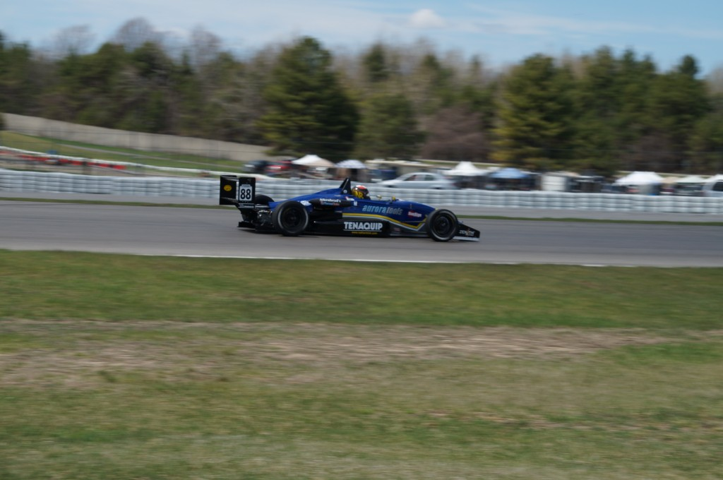 Nathan Blok driving down the raceway in his No. 88 car. Photo courtesy Nathan Blok