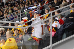 Bulls' fans filled section 114 at the K-Rock Centre to cheer on their former team.