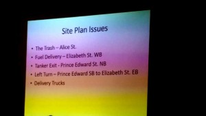 David Green's site plan issues