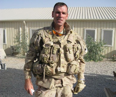 Lt. Col. Steve Molaski overseas on deployment. Photo by RMC
