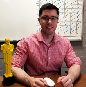 Hoping to one day turn his Lego Oscar into a real one, Jacob Côté continues his journey into the world of film as festival co-ordinator for DocFest. Photo by Nick Ogden, QNet News