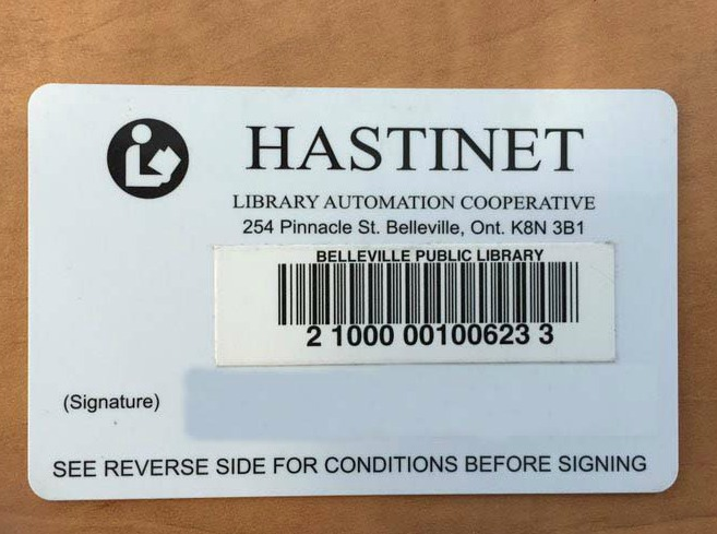 The old library cards were lacking in colour and aesthetics, said Belleville Public Library CEO Trevor Pross. Photo by QNet News Tara Henley.