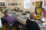 Artists (L-R) Sandy Marrow and Linda DaHaan work on their paintings as part of the Belleville Art Association.