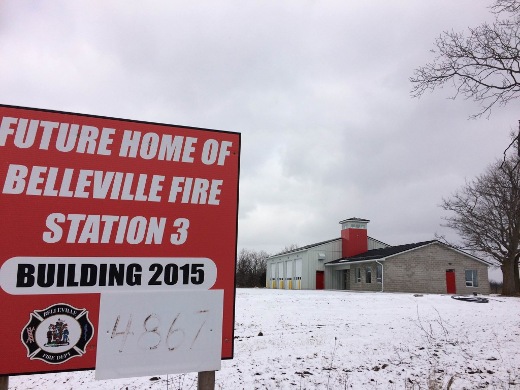 A look at the new fire hall on Old Highway 2 in Belleville. Photo by Sean McIntosh