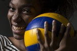 BELLEVILLE, Ont. (02/06/16) – Sara Piana Yafu, the 19-year-old rookie on the Lancers volleyball team, has taken the college athletics scene by storm. Off the court, she is a quiet bubbly person, but when she plays, her aggressiveness comes out. Photo by Marissa Tiel