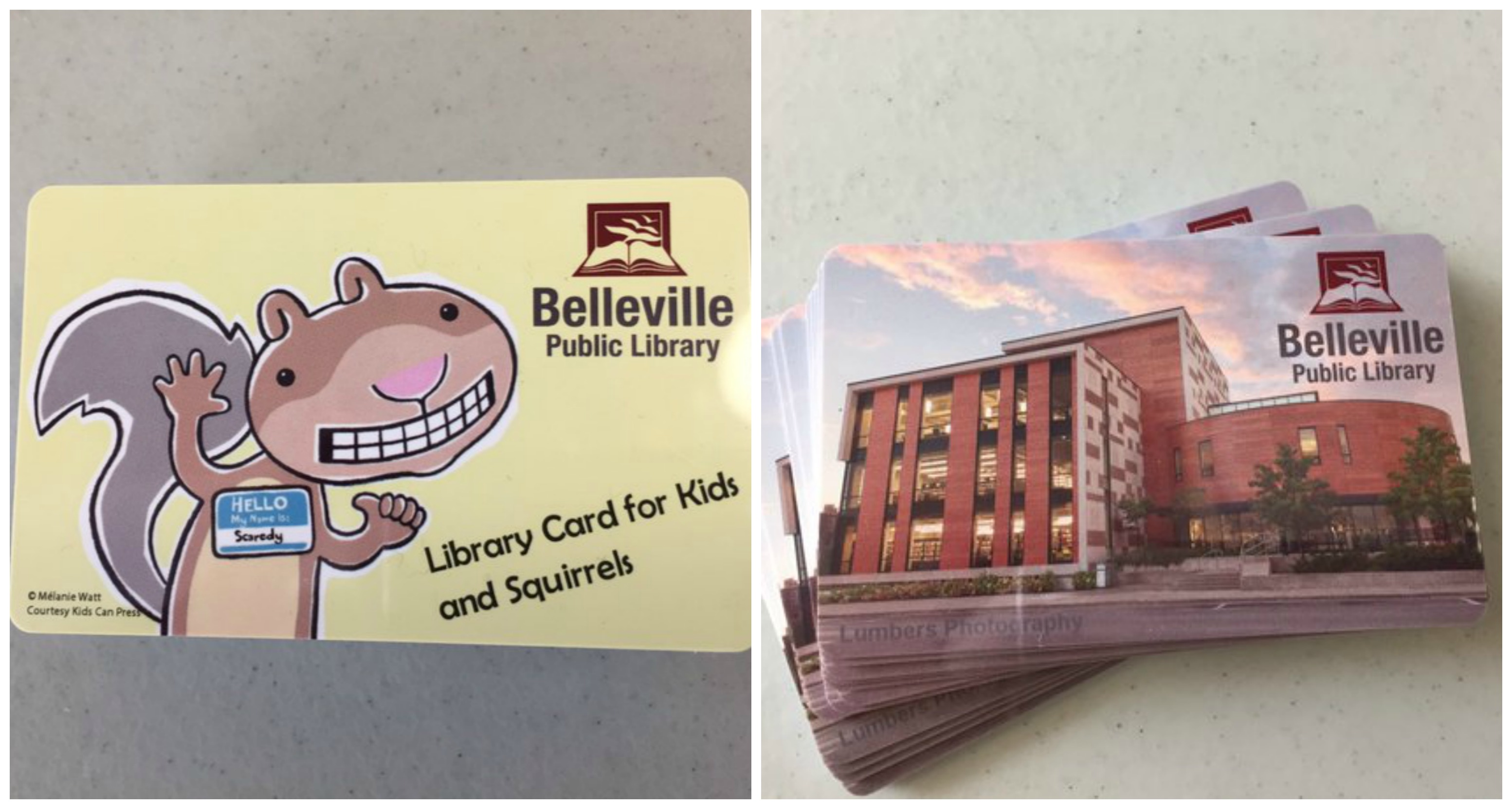 The Belleville Public Library now offers visitors a choice of which library card they would like to sign up with. Photos by Tara Henley.