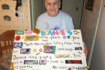 Bonnie McMillan holding a going away present that was made for her. Photo by Meaghan Bury, QNet News