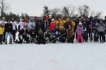 Group photo from the 2014 Kerr Pond Hockey Tournament. Photo courtesy of John Kerr.