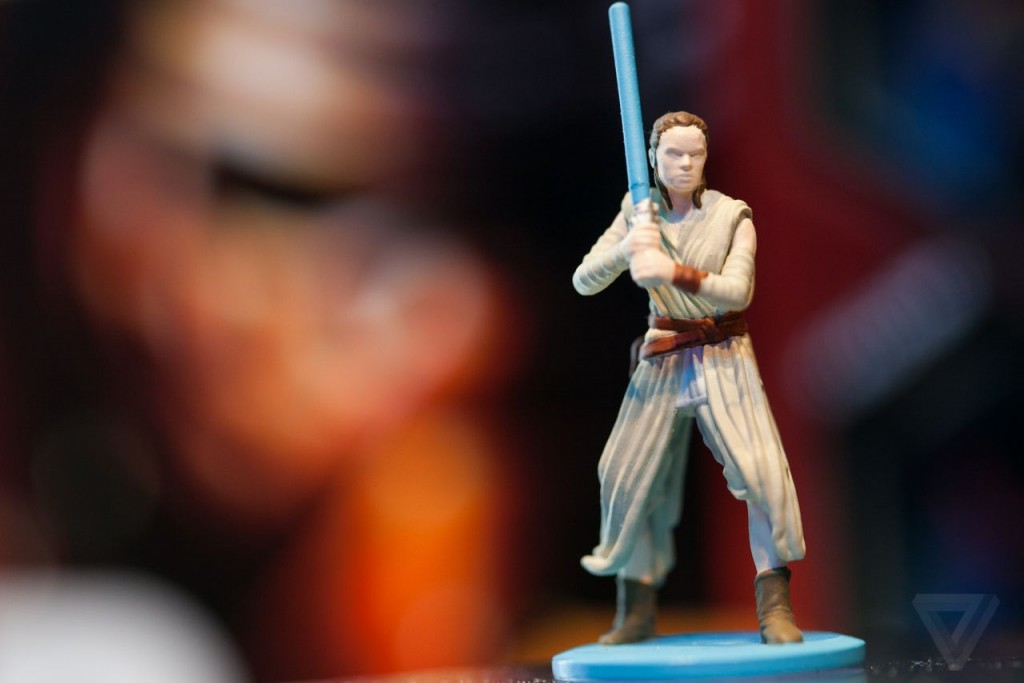 Fans of the popular Star Wars franchise criticized Hasbro's new Monopoly game when it was released without a Rey figurine, even though she is a central character in the new film. Hasbro has said that in the new Monopoly game being released later this year, a Rey figurine will be included. Photo from Hasbro Toys.