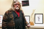 """I feed my soul and body with the work of my hands,"" sculptor Peter Paylor says. Photo by Emilie Quesnel, QNet News"
