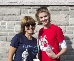 Taylor Bertelink and Vicki Samaras at the 2016 Terry Fox Run on Sunday September 18. Photo By Makala Chapman, InQuinte