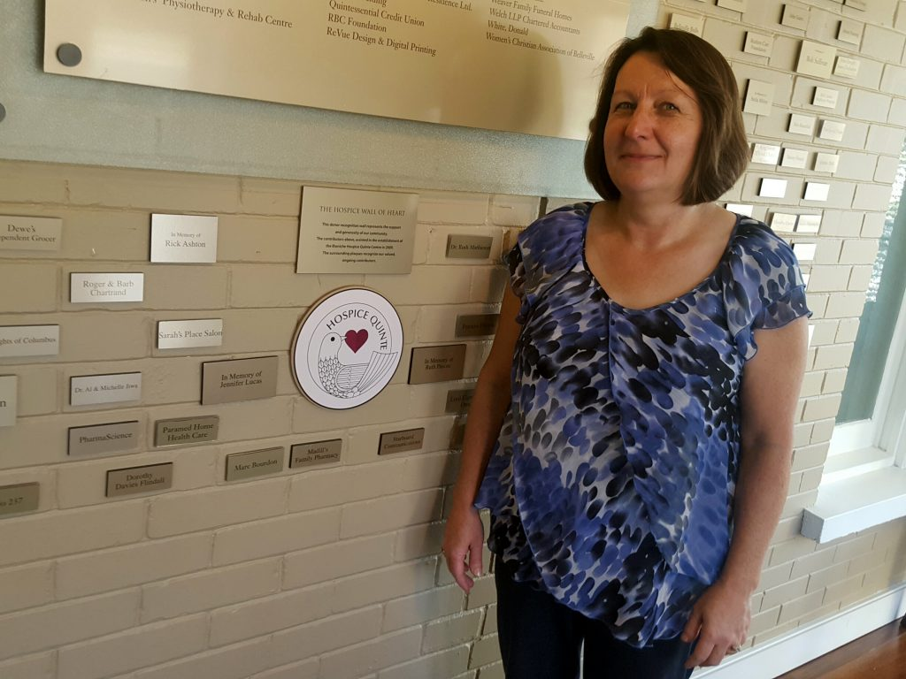 Executive director of Hospice Quinte, Helen Dowdall, says that the hospice's goal is to provide constant comfort for their patients and their families. Photo courtesy of Hospice Quinte