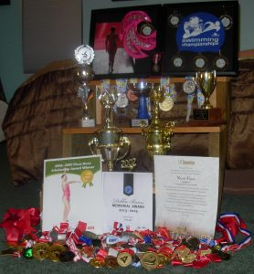 Just a few of the many awards and accomplishments that Nicole Flynn has achieved in her life, Photo courtesy of nicoleflynn.ca