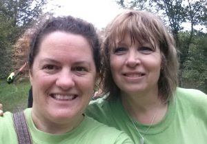 Manager customer service Sarah Neilson and financial advisor Colleen Catlin from TD bank help plant trees at Quinte Conservation. Photo courtesy of Sarah Neilson.