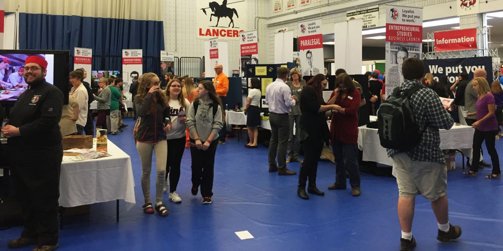 High school students from Belleville came to Loyalist College on Wednesday for the annual open house. Photo by Stephanie Clue, QNet News.