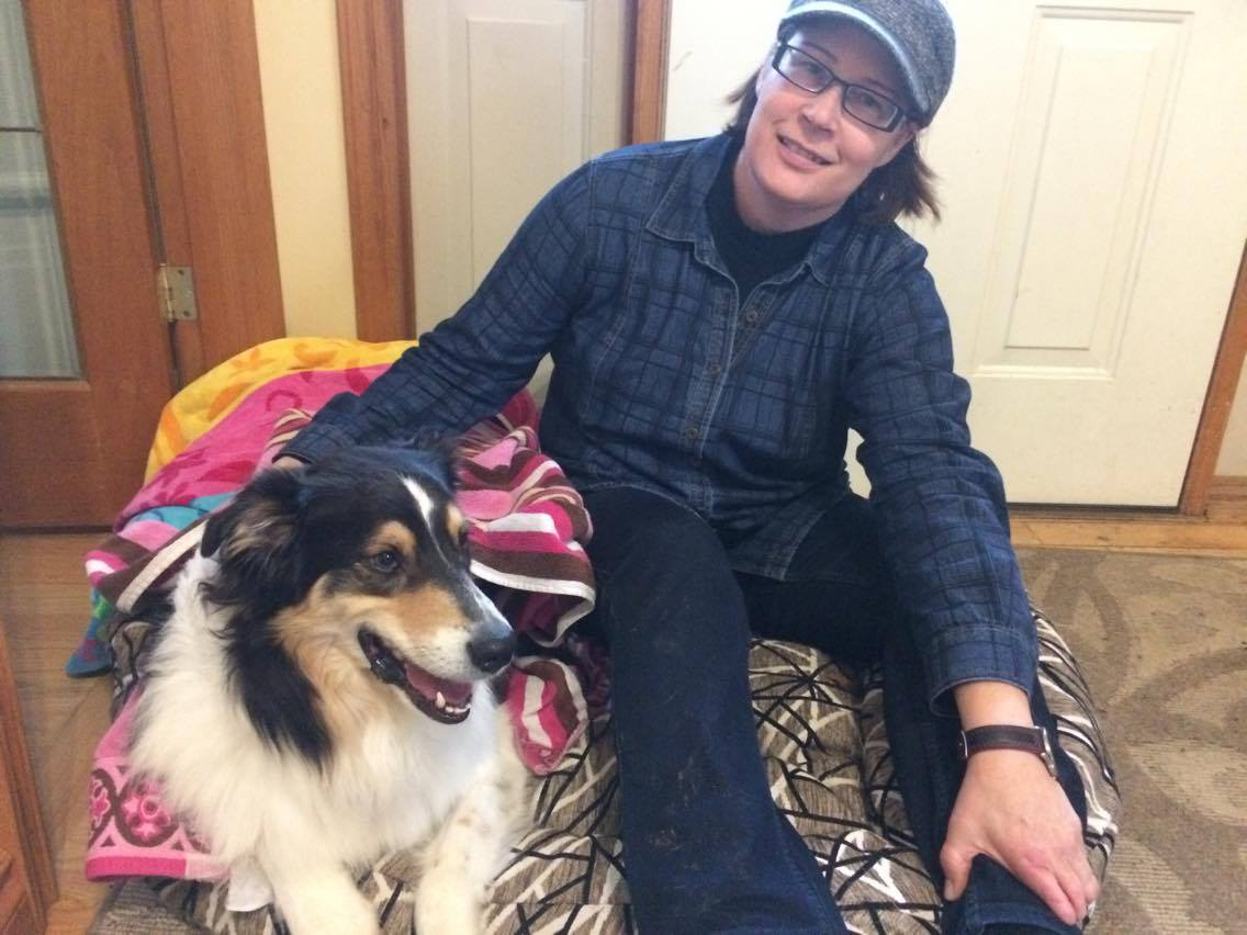Koda, is one of Debra's regular furry friends. The Australian shepherd is 5 years old. Photo by Courtney Bell,QNet News..