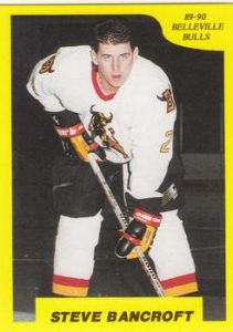 Minor Midget AAA Quinte Red Devils Head Coach Steve Bancroft back in his junior hockey days with the Belleville Bulls of the OHL. Photo courtesy of The Trading Card Database.