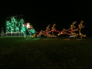 The city of Belleville adds a new light every year to the display at Jane Forrester Park. Photo by Stephanie Clue, QNet News