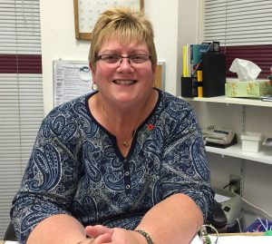Pam Smith has been the coordinator for the Belleville Christmas sharing program for the last four years. Photo by Stephanie Clue, QNet News.