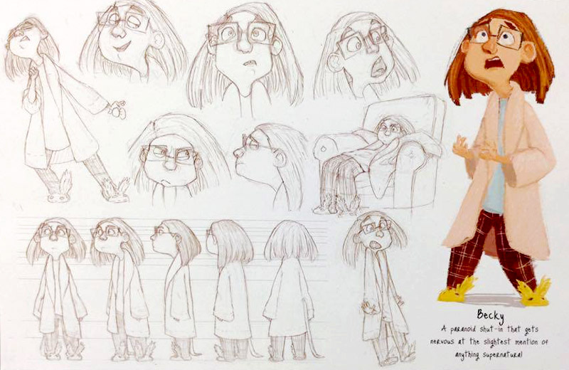 """""""The Making of Becky"""" character sketch by Rebecca Brook. Photo by Katie Perry, QNetNews"""