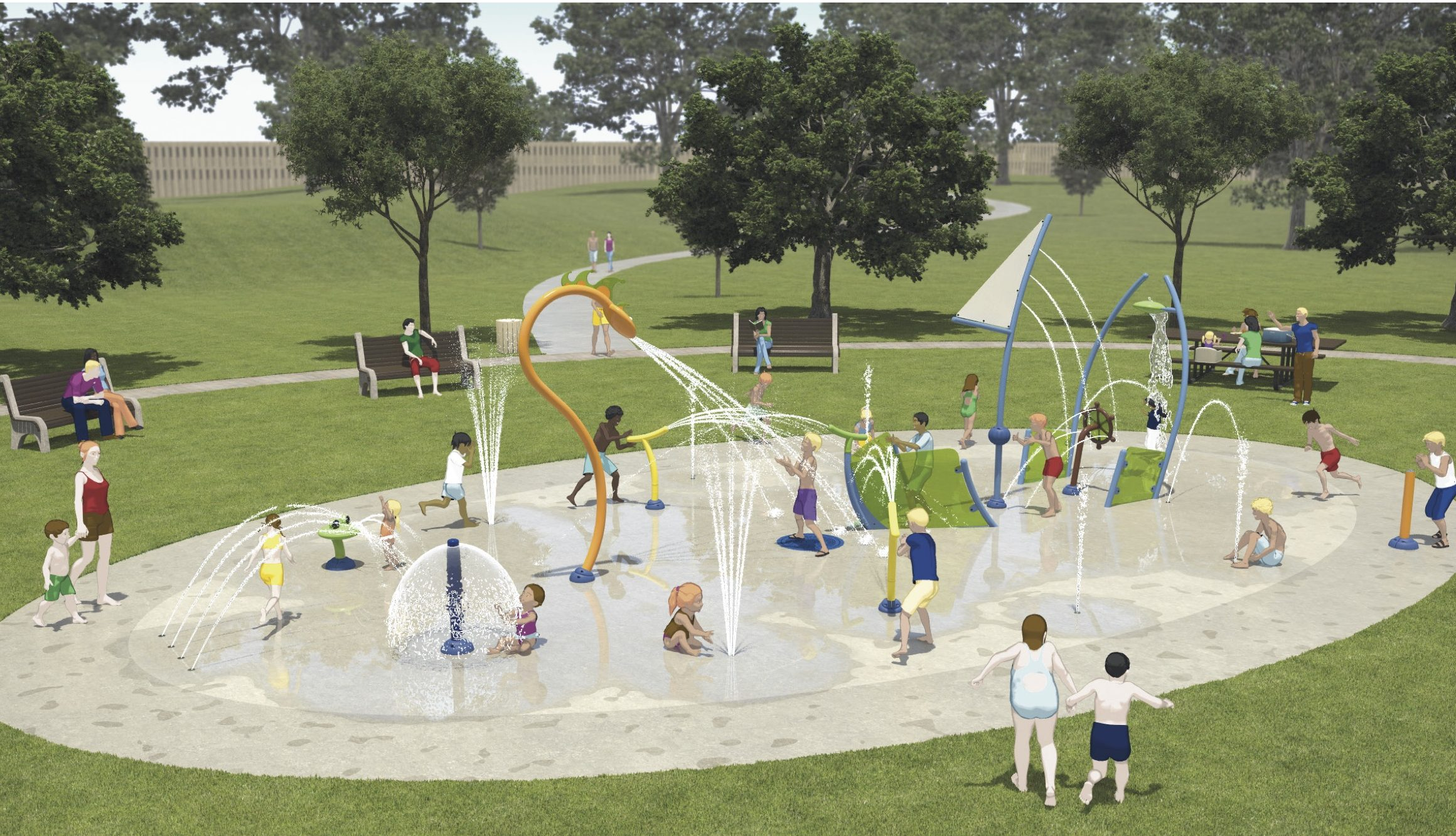 Design plans for the splash pad in Picton,Ontario. Photo provided by Susan Quaiff,co-chair of splash pad committee.