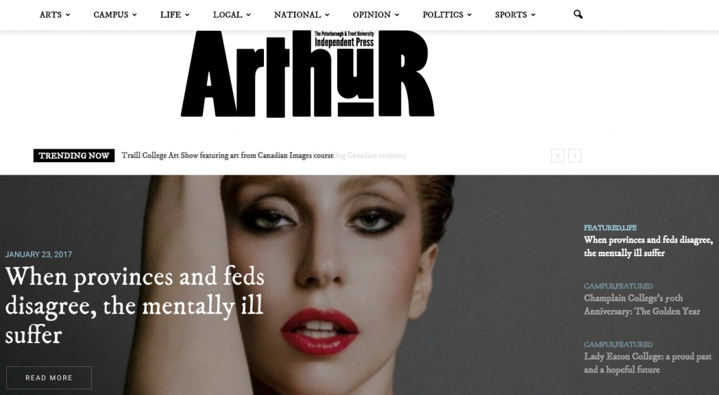 Arthur home page