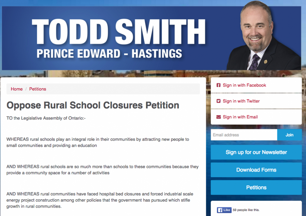 Todd Smith petition