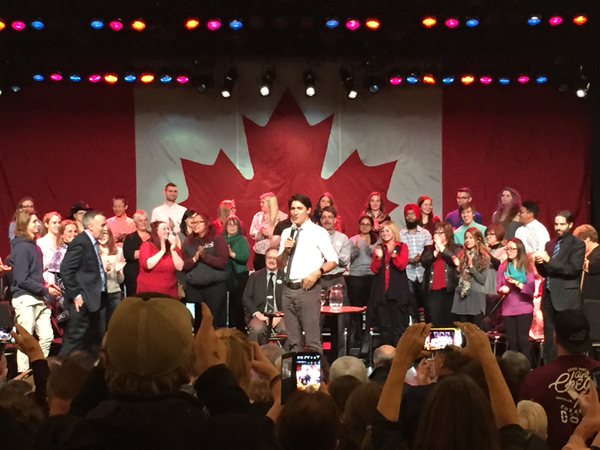Trudeau speaking 2