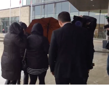 Jaclyn McLaren enters Quinte Courthouse