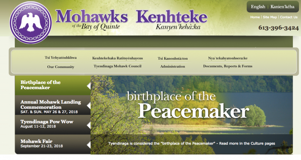 Mohawks of the Bay of Quinte website